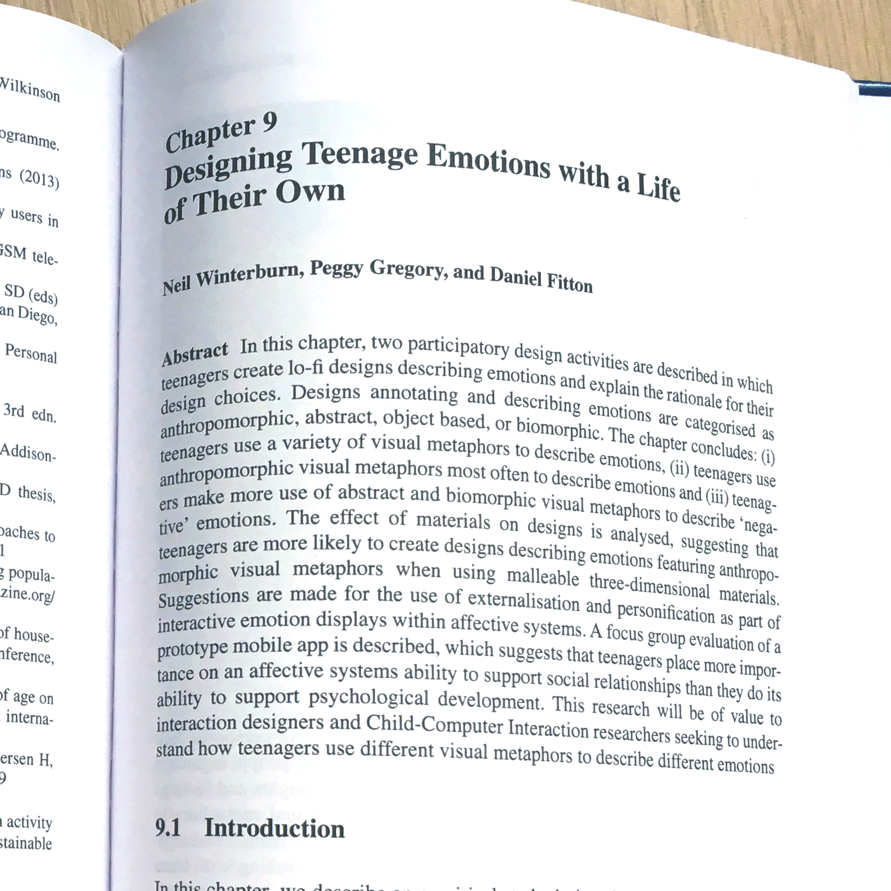 Book Chapter | Designing Teenage Emotions With a Life of Their Own